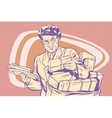 retro postman delivering letters vector image