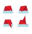 Santa hat flat icon vector image vector image