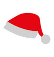 santa hat on white background vector image