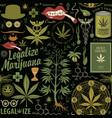 Seamless pattern for a legalize marijuana