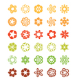 Set of flat icon flower vector image vector image