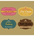 Set of labels for cakes cookies ice cream vector image vector image