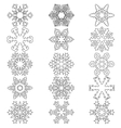 Set snowflakes icons on white background vector image