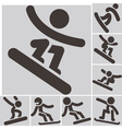 snowboard icons vector image