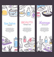 spa treatment banner background design for vector image vector image