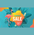 summer sale poster background with bright vector image vector image