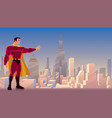 superhero power in city vector image vector image