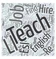 Teach English Word Cloud Concept vector image vector image