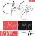 Thank You typography set vector image