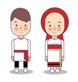 traditional national clothes of russia set of vector image vector image