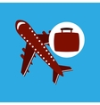 travel concept airport plane vector image vector image