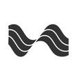 wavy sound lines glyph icon silhouette symbol vector image vector image