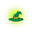 Witch hat icon comics style vector image