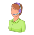 Woman operator icon isometric style vector image vector image