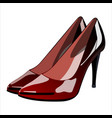 women s shoes with heels vector image