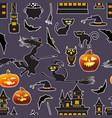 halloween seamless patter vector image