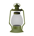 vintage camping old lamp for hiking vector image