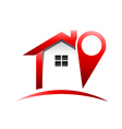 House logo locate vector image