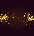 abstract defocused circular golden bokeh sparkle vector image vector image