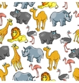 African jungle and safari animals cartoon pattern vector image vector image