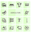 agriculture icons vector image vector image