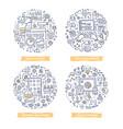 app development doodle vector image
