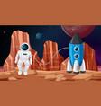 astronaut in space scene vector image vector image