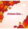 Autumn background with shining foliage Autumn vector image vector image