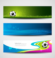 Banner headers soccer ball set design vector | Price: 3 Credits (USD $3)