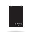 blackboard sign vector image vector image