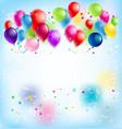 blur happy birthday card vector image vector image