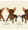border seamless background dog puppy small happy vector image