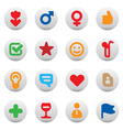 Buttons for dating and love vector image vector image