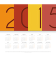 Calendar for 2015 year vector image vector image