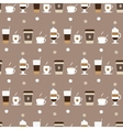 Coffee cups icons seamless pattern vector image vector image