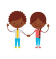 cute black kids characters icon vector image vector image