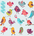 Cute cartoon birds set vector image vector image