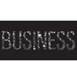 Decorative elements of the word business
