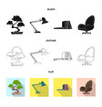 design of furniture and work sign vector image vector image