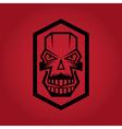 digital skulls on red background vector image vector image