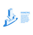 download icon isometric template in flat 3d style vector image vector image