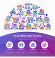 election and voting concept in half circle vector image