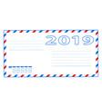 envelope 2019 vector image