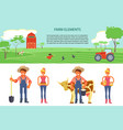 farming infographic elements vector image vector image