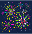 firework bright color background vector image