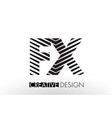 fx f x lines letter design with creative elegant vector image vector image