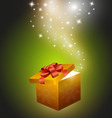 golden gift box vector image