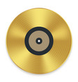 gramophone golden vinyl disco record album music vector image vector image