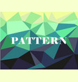 green white polygonal mosaic background vector image