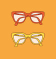 hand-drawn outline isolated pair glasses vector image vector image